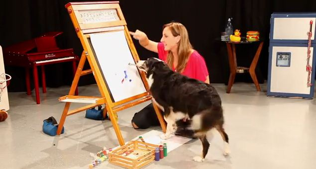 Instead of Playing Fetch With This Paintbrush, This Dog Did Something Amazing