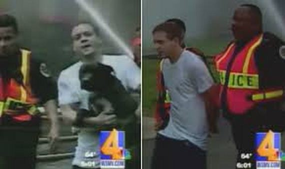 Man Arrested For Saving His Dog From A Burning Home