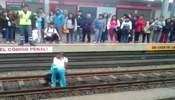 Hero Woman To Pay Fees for Saving Dog on Train Tracks