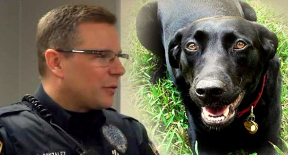 Dog Alerts Police Officer & Saves Owner's Life