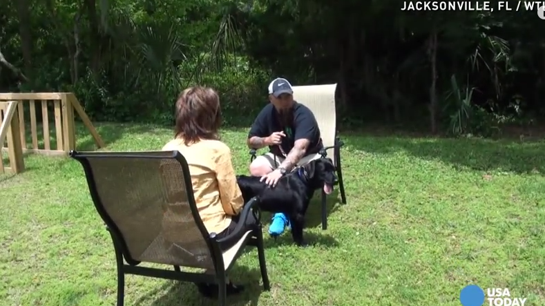 This PTSD Veteran Felt Agitated During An Interview. Now Watch What His Dog Does!