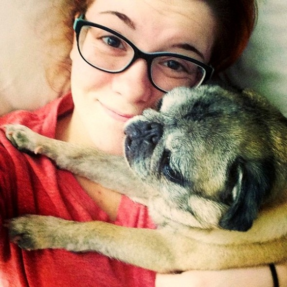 """""""Party Pug"""" Helps Save Young Woman with Severe Depression"""