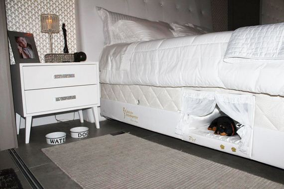 Inside This Bed There's A Tiny Place Where Your Pet Can Sleep