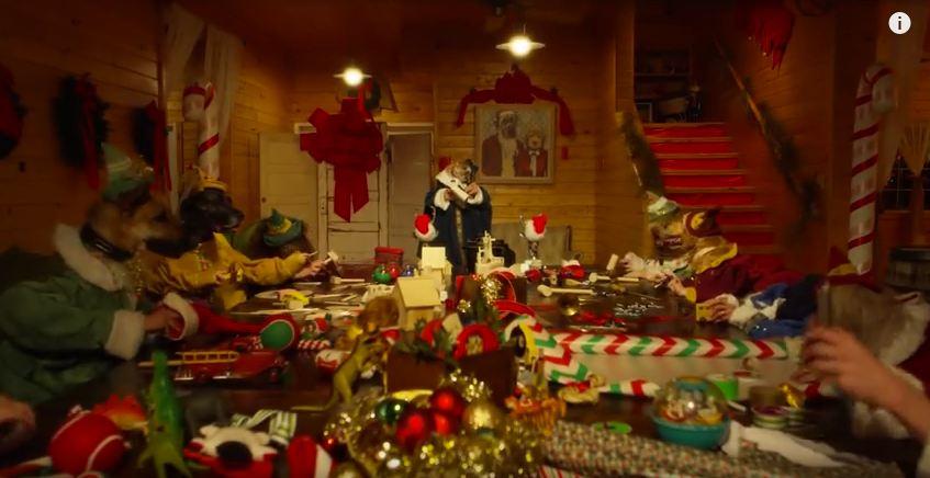 Four-Legged Elves Help Santa