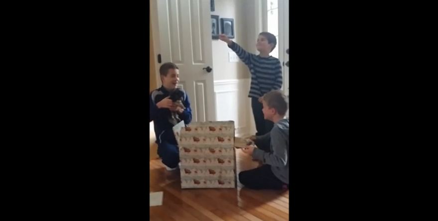 Three brothers receive the Christmas surprise of a lifetime!