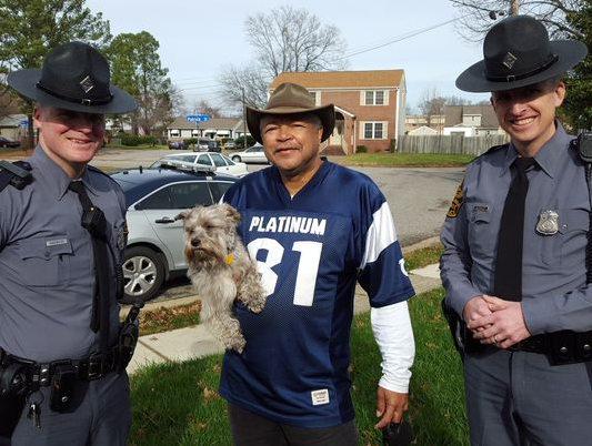 State Troopers Rescue Pooch Off of Virginia's I-64
