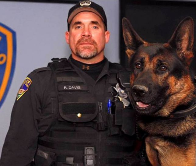 Over 100 K-9s Walk in Funeral Procession for Slain Police Dog, Jethro