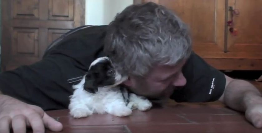 Watching This Man Play With An Itty-Bitty Puppy Will Put A Smile On Your Face