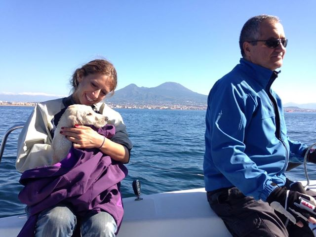 When These People Went Sailing, They Didn't Expect To See A Puppy In The Middle Of The Sea