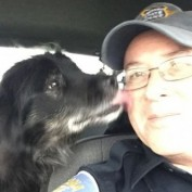 State Trooper Rescues Dog from Busy Highway