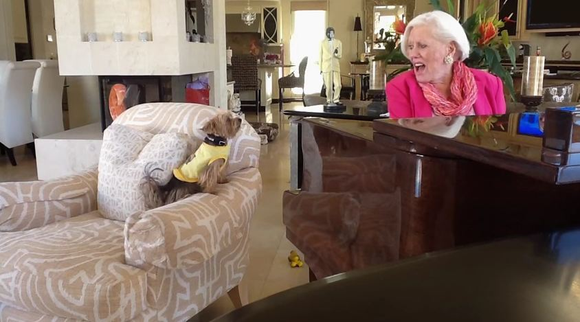 Dog Sings While Human Plays Piano