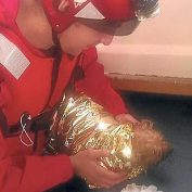 Red Cross Rescues Dog Stranded in Port
