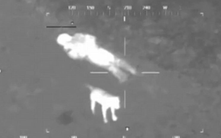 Police Thermal Image Camera Catches The Selfless Actions Of One VERY Loyal Dog