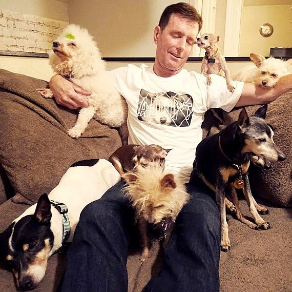 Man Is Addicted to Adopting Senior Animals No One Else Wants