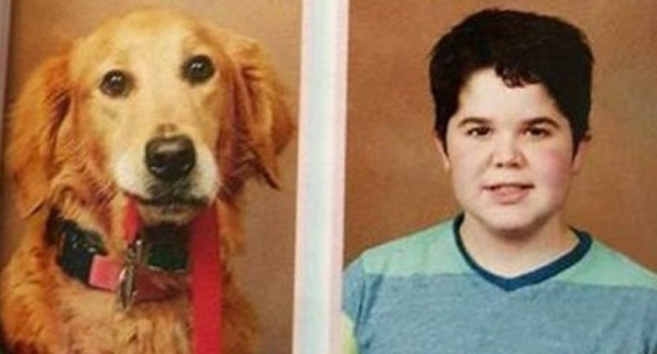 Service Dog Appears in Yearbook Alongside Student Owner