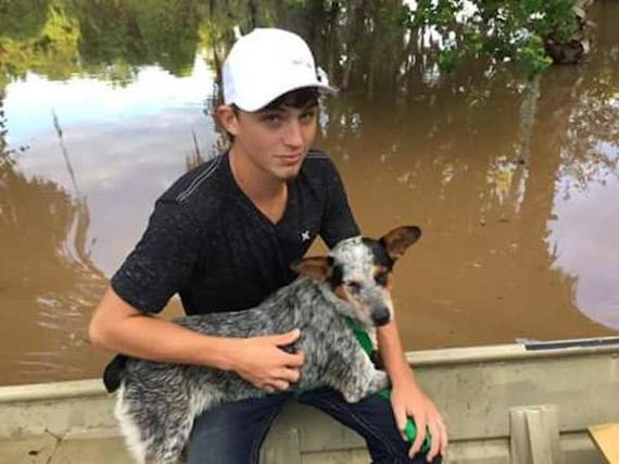 Father and son team rescues abandoned pets from flood waters