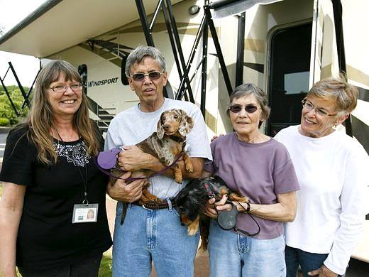 Cuteness Alert: Blind Doxie and His Guide Dog Adopted Together!