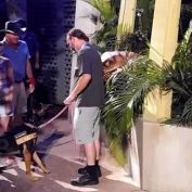 """Service Dog Stands Up to Velociraptor """"Attacking"""" Human at a Theme Park"""