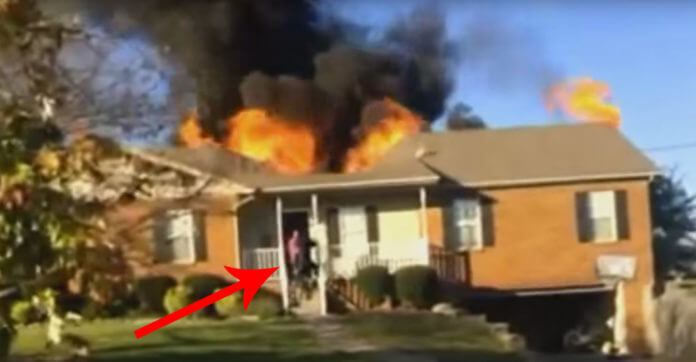 Man Runs Into Stranger's Burning Home To Rescue 85-Pound Dog