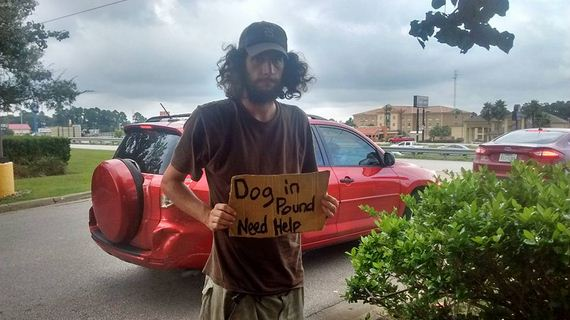 Homeless Man Can't Afford To Get His Dog Out Of Pound, So A Kind Woman Helps In The Sweetest Way