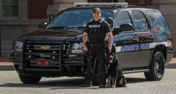 Police Dog Hurt; Falls 30 Feet While Pursuing Suspects