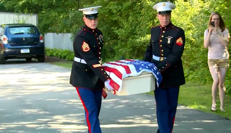A Little Hero Dog Died, Then 2 Marines Grab His Tiny Casket And Bring Him Home