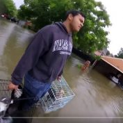 7 Heartfelt Photos Of People Banding Together To Save Animals During Hurricane Harvey
