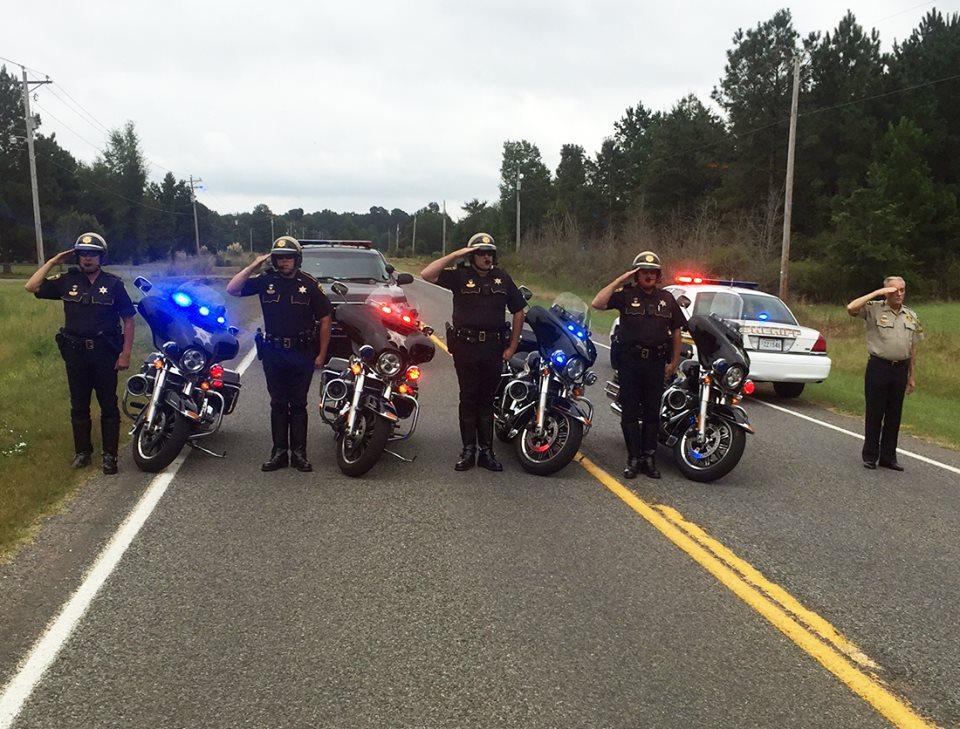 These deputies helped honor a K9 military hero