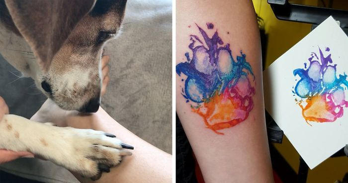 Dog Paw Prints Make The Most Pawesome Tattoos Ever, And Here's The Proof