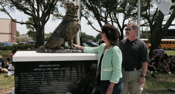 Remembering Bretagne: 9/11 Search Dog Honored With Statue in Texas