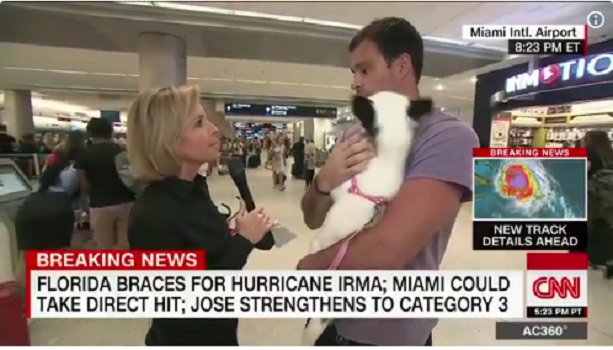 Airline turned away man with dog – man went home to ride out storm with pet