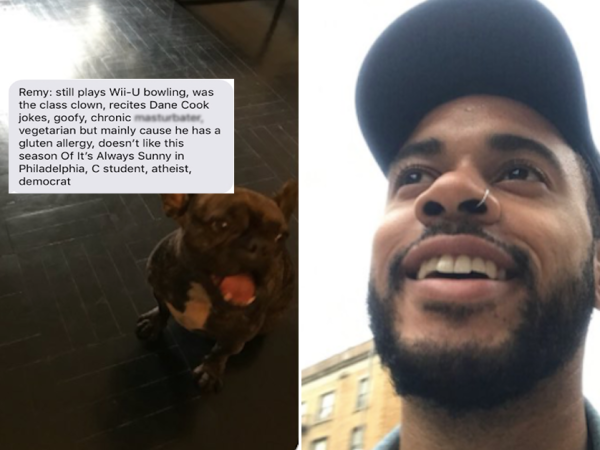 Dog walker assigns his clients some fictional backstories