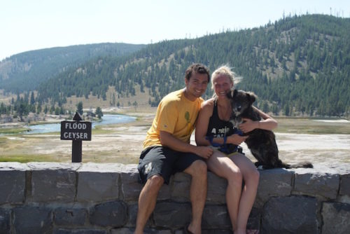 Couple Finds Stray Dog During Road Trip & Refuse To Leave Her Behind