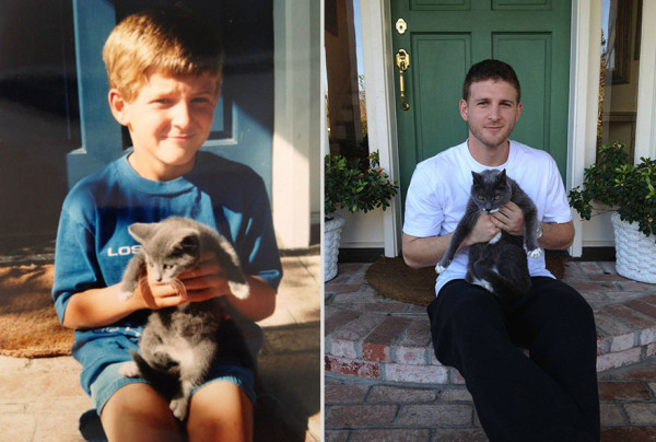Furbabies Transform Alongside Their Owners In 'Growing Up' Photos