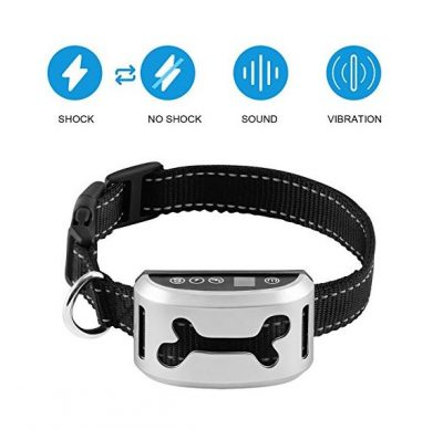 Bark Collar Upgrade 7 Adjustable Sensitivity Rechargeable Dog Bark Collar with Vibration, Beep and No Harm Shock for Different Sizes Dog