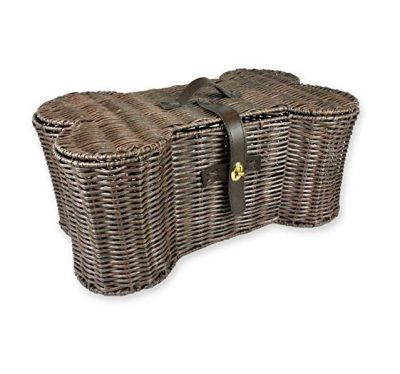 DII Bone Dry Bone Shape Pet Organizer Storage Basket for Home Décor, Pet Toy, Blankets, Leashes and Food