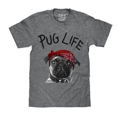 Tee Luv Pug Life Dog Graphic T-shirt
