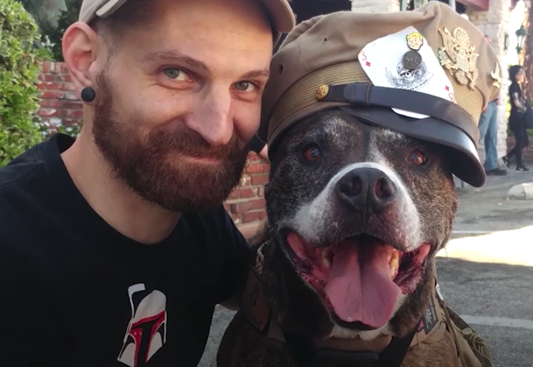 Veteran Rescues Pit Bull, But He Didn't Know The Dog Was About To Rescue Him Right Back