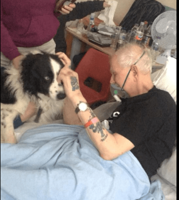Dying man granted final wish to say good-bye to his dog