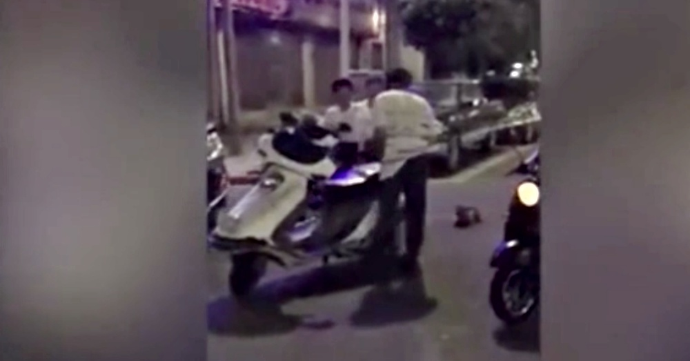 Horrific Video Of Chinese Man Dragging A Dog Behind His Scooter
