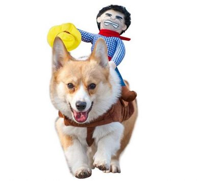 Dog Costume Pet Suit Cowboy Rider