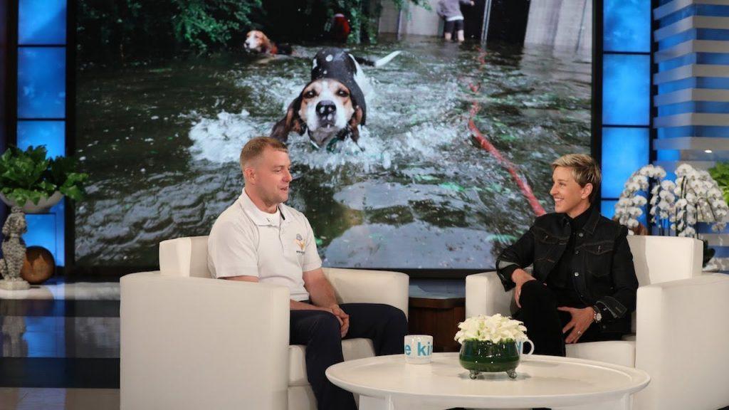 Ellen Degeneres Surprises Hurricane Florence Dog Rescuer