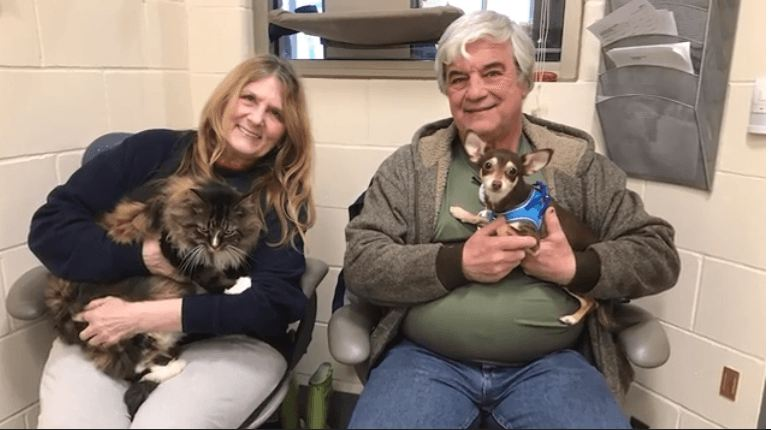 Success! Adopters found for deeply bonded cat and dog surrendered together