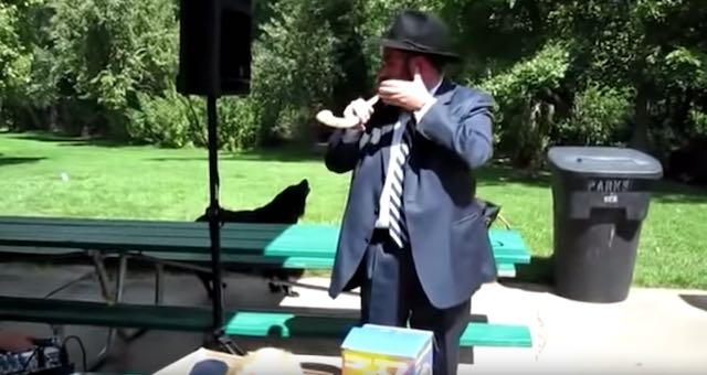 Dog Unexpectedly Joins In On Rabbi's Musical Demonstration