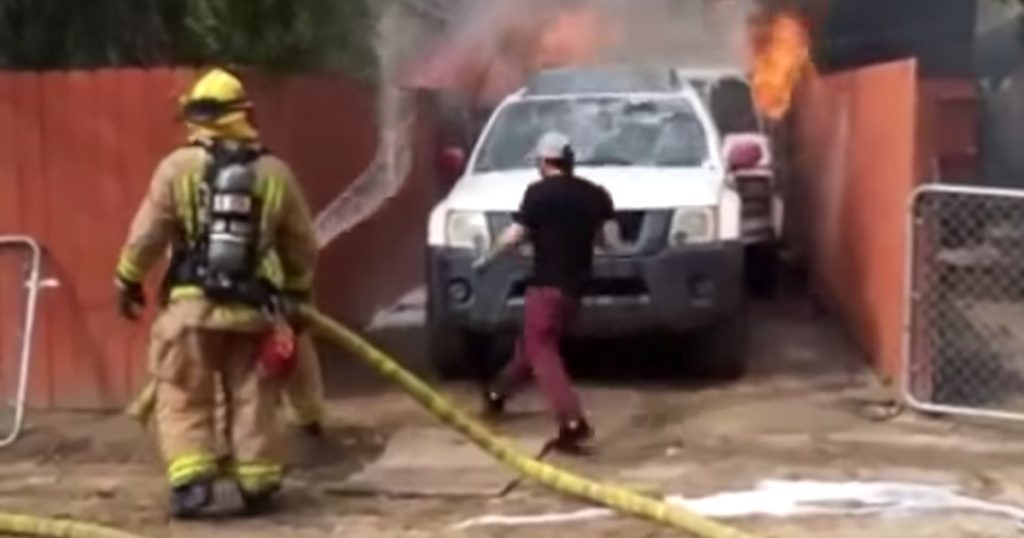 Man Runs Into Burning Home To Save Dog As Firefighters Yell At Him