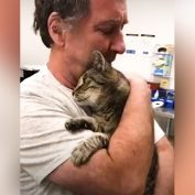 Man Reunites With Cat In Tearful Embrace After 7 Years Apart