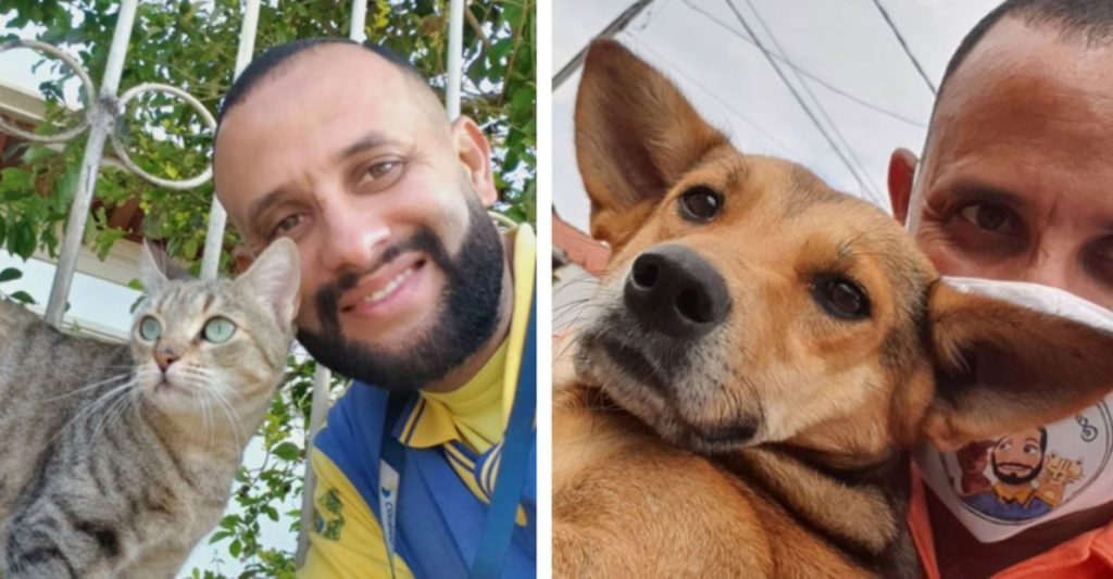 Mailman Takes Adorable Selfies With All The Animals He Meets On The Job